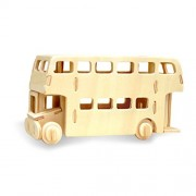 Wooden Simulation London Bus Assembly Puzzle Model 3D Bus Puzzles Block Educational Toy Gift for Kids