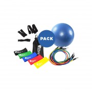 Pelota Pilates 85 Cm + Pack Loops + Kit 11 Piezas