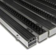 Hliníková gumová čistící vstupní kartáčová venkovní rohož Alu Extra - 100 x 100 x 1,7 cm (80000720) FLOMAT