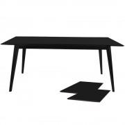 nimara.se Nora matbord i Svart - 195/285 cm med tilläggsskiva
