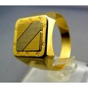 Zlatý pánsky prsteň z dvojfarebného zlata VP66768V