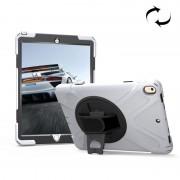Apple Voor iPad Pro 10.5 inch 360 graden rotatie PC + siliconen beschermhoes met houder & Hand-band (wit)