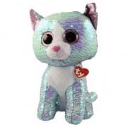 Jucarie de plus TY - Beanie Boos, Pisicuta Whimsy, cu paiete, 42 cm