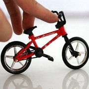 "OWIKAR 4.9"" Mini Alloy Finger Bikes Functional Finger Mountain Bike BMX Fixed Bicycle Novelty Toys Game For Kids Boys Girls Red Blue Yellow Green Random Color"