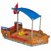 KidKraft Sandlåda med tak Piratskepp trä 00128