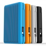 "ORICO Portable 3.5"" 2TB USB 3.1 Gen2 Type-c 10Gbps External Hard Disk Drive with Silicone Protective Case (MS3520) - Orange"
