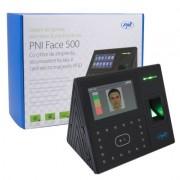 Sistem de pontaj biometric si control acces PNI Face 500 cu cititor de amprenta, recunoastere faciala si card, soft free