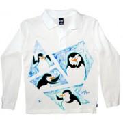 Tricou baieti pictat manual, 10 ani, Pinguini