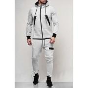 OneRedox Jogging Suit Sport Set Tracksuit Pants & Hoodie Sweater Grey 47002-2