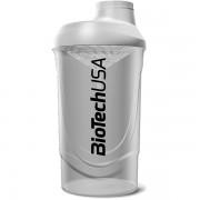 Shaker Wave BioTech USA biely priesvitný 600ml