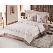 Cuvertură de pat dublu Valentini Bianco YT044 Maro