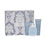 Dolce&Gabbana Light Blue Eau Intense set cadou Apa de parfum 100 ml + Gel de dus 50 ml +Balsam dupa ras75 ml pentru bărbați