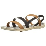 Zaxy Women's Urban Ii Jelly Sandal, Beige/Black, 8 M US