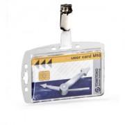 DURABLE · Hunke und Jochheim GmbH & Co. KG DURABLE Hartbox mit Clip für einen Betriebs- / Sicherheitsausweis, Ausweishalter mit geschlossener Ausführung, 1 Packung = 25 Stück, Farbe: transparent