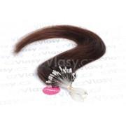 Asijské vlasy na metodu micro-ring odstín 2 Délka: 46 cm, Hmotnost: 0,5 g/pramínek, REMY kvalita