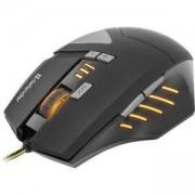 Геймърска мишка Defender Gaming Warhead GM-1760 optical, 8 бутона, 1000/1500/2000/2500 dpi, 30 IPS, 125-1000 Hz, Черна, 52760