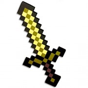 SDCC 2013 Minecraft Foam Gold Sword