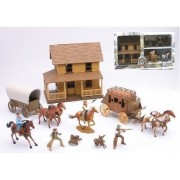 The Big Country Western Town Deluxe Playset w/ Gunfighters