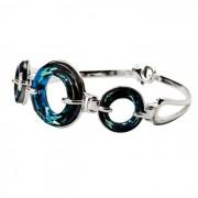 Bransoletka srebrna z kryształami Swarovskiego R 1502 : Kolor - Bermuda Blue
