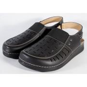 Sandale MUBB negre piele naturala pentru barbati (cod 3424)