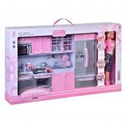 Bucatarie completa Modern Kitchen, papusa si accesorii incluse