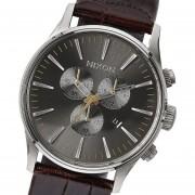Reloj Nixon Sentry Ss A4051887 Japon-Plateado Con Marrón