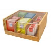 Кутия за съхранение на чай Nerthus бамбукова - голяма