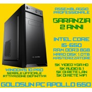COMPUTER ASSEMBLATO GOLDSUN APOLLO 650 DESKTOP INTEL CORE I5-650 8GB HD1.00TB WiFi WIN10