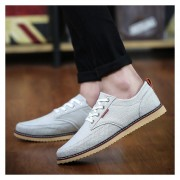 Zapatillas Zapatos De Lona Ocasionales De Los Hombres Clásicos E-Thinker-Gris