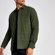 River Island Mens Only & Sons Khaki quilted overshirt (L)