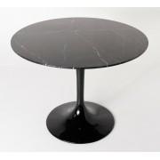 Replica Tulip Table - Nero Marquina Marble - 80cm
