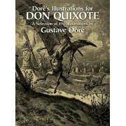 Dore's Illustrations for Don Quixote, Paperback