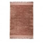 Zuiver Blink - Tapis à franges vieux rose - Couleur - Vieux rose, Dimensions - 200x300 cm