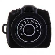 CÁMARA Camara DE Video Mini Sports QMS Y2000 HD Deportes al Aire Libre Ultra-Mini DV Pocket Grabador de Video Digital de Video, Soporte MAX SD Tarjeta Micro SD de 32GB (Negro)