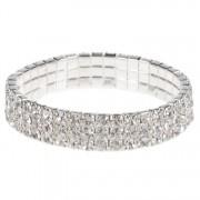 Dames armband zilver met strass steentjes