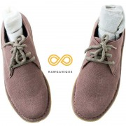 Rawganique Natural Rubber Sole Unisex Docklands Hemp Moccasins Shoes RGFT-264MDNR