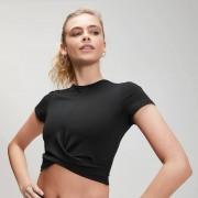 MP Women's Power Short Sleeve Crop Top - Black - XXS
