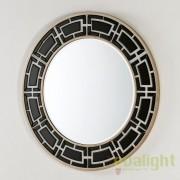 Oglinda rotunda eleganta LUX, sticla neagra, diametru 110cm Rene 36609/00 TN