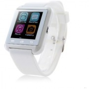Snaptic Limited Edition U8 GSM Sim Enabled Bluetooth Smart Watch for Android and iOS White
