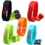 Dames Sporthorloge Polshorloge Armbandhorloge Vrijetijdshorloge Digitaal horloge Digitaal LED Silicone Band Snoep Zwart Wit Rood Roze