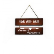 100yellow You Are Our Wooden Wall Hanging Board Plaque Sign For Room Decoration (7.5 x 12 Inch )