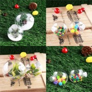Christmas Party Home Tree Decoration DIY Shatterproof Seamless Baubles Balls For Kids Gift