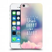 Műanyag átlátszó tok az alábbi mobiltelefonokra Apple iPhone 5/5S/SE - Think happy be happy