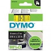 Dymo D1 Labelling Tape 40918 Black on Yellow 9 mm x 7 m