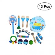 TOYMYTOY 13pcs Musical Instruments Set Kids Percussion Rhythm Band Toy (Assorted Boy Style)