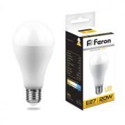 Лампа светодиодная Feron LB-98 A65 20W E27 2700K 25787