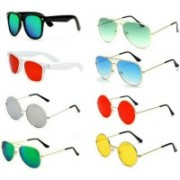 SO SHADES OF STYLE Wayfarer, Round, Aviator Sunglasses(Multicolor)