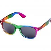 Bullet 10x Festival/Feest regenboog zonnebrillen retro voor volwassenen