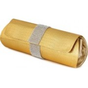 Kleio Casual Gold Clutch