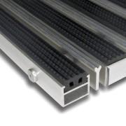 Hliníková gumová čistící vstupní venkovní kartáčová rohož Alu Extra - 100 x 100 x 2,7 cm (80000729) FLOMAT